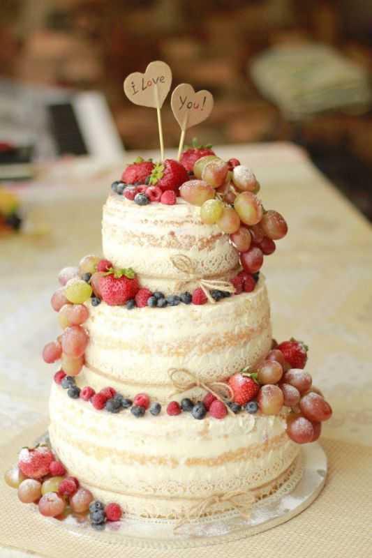 Свадебный торт в синем цвете в тренде [2021] с белыми тонами ? без мастики – фото