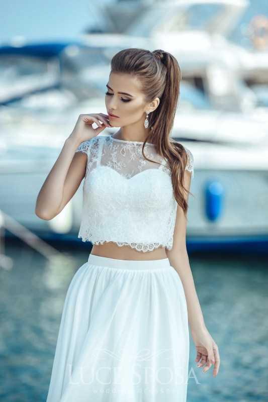 Раздельное свадебное платье (crop top) – топ и юбка отдельно