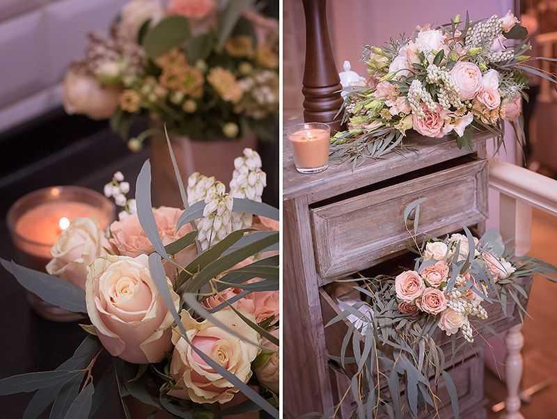 Правила сочетания свадебного букета и платья — как подобрать лучший вариант под голубой, бежевый, пудровый и наряд цвета айвори