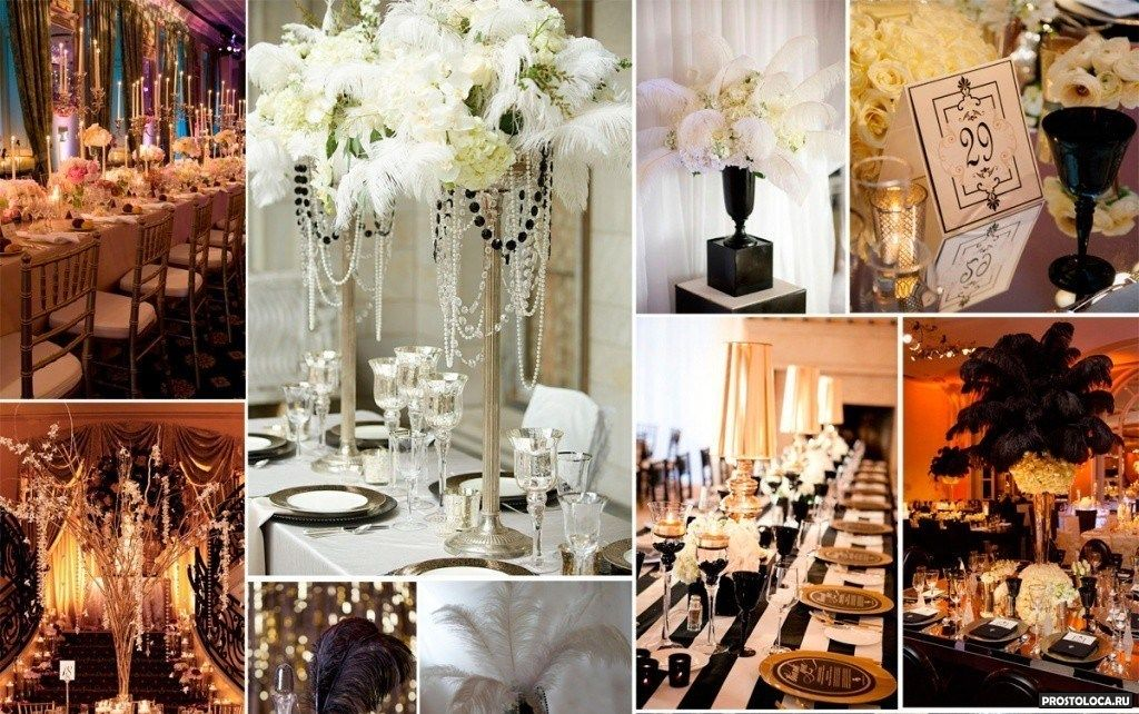 Свадьба в стиле гэтсби – роскошь и блеск «золотого времени»