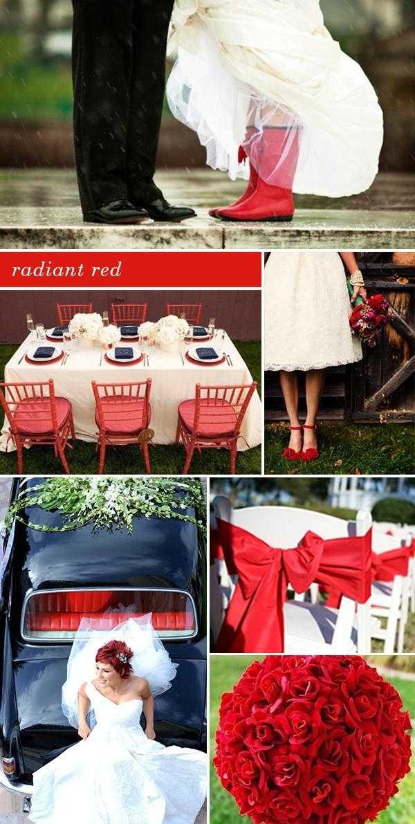 Красная свадьба: как эффектно украсить торжество.