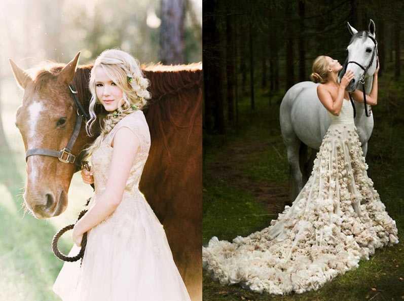 Свадебная фотосессия с лошадьми - идеи проведения, примеры и фото